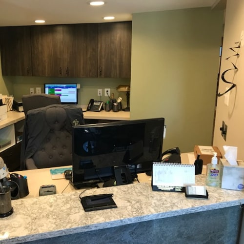 Front desk Bawa Dentistry Manassas Office