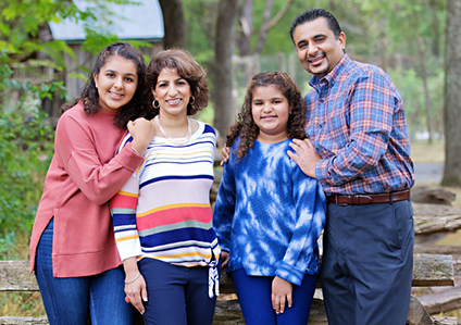 Dr. Anoop Bawa with her family