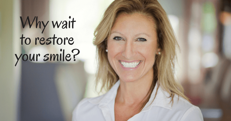 Why wait? Restore your smile and get your dental crown in one visit.